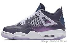 Nike Air Jordan 4 Шелковая Красная Женская Баскетбольная обувь, оригинальные высокие удобные спортивные уличные кроссовки для спорта и активного ...()