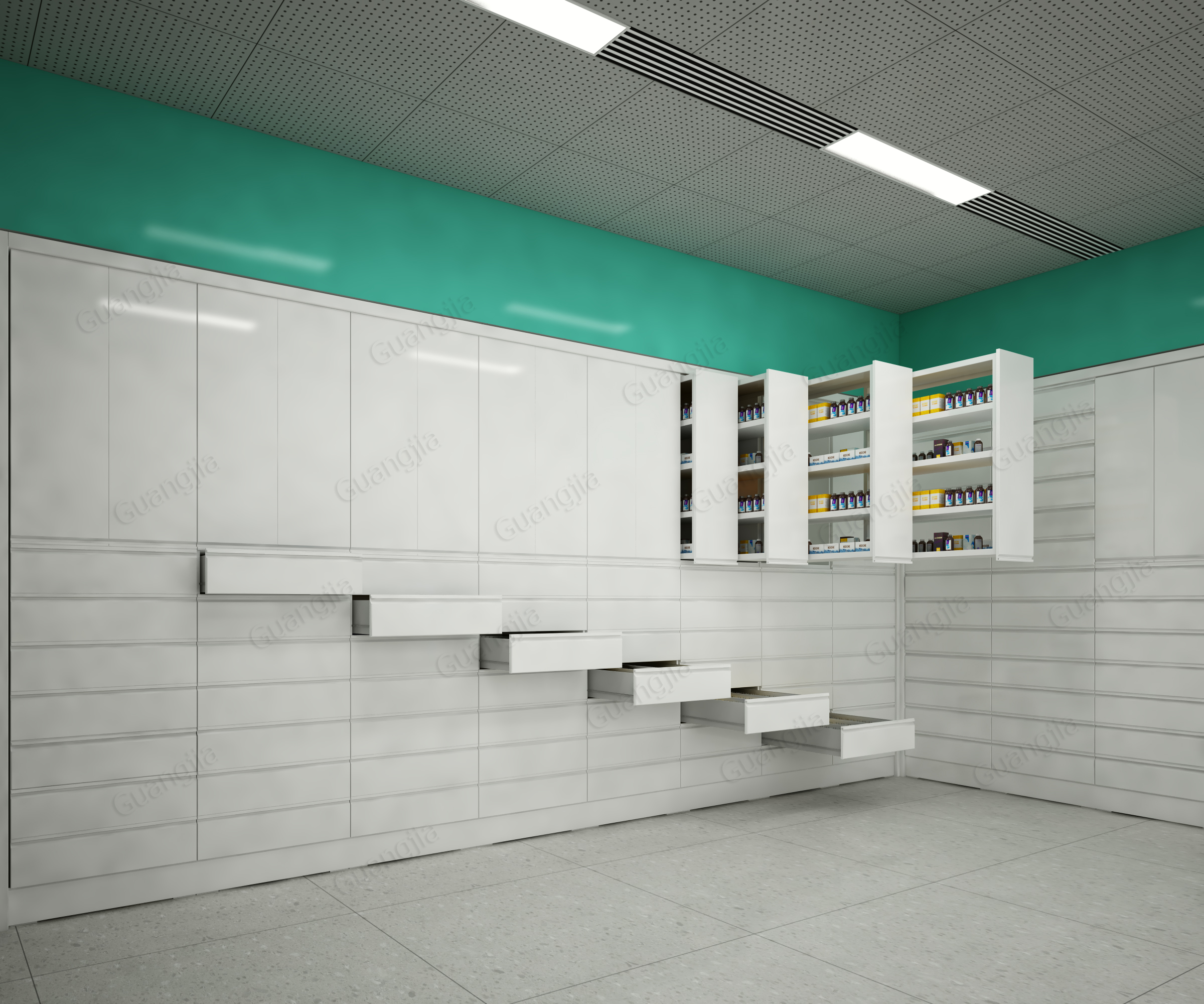 New design horizon&vertical cabinet pharmacy drawer medical storage cabinets system for sale - Drawers Solutions - 1