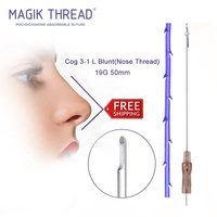 Nose Thread Cog 3-1 L Blunt 19G 50MM Strong face lifting absorbable korea cog mono nose lift barbed suture pdo thread