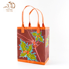 Wholesale Design Custom Food Wine Kraft Paper Shopping Bag With Printed Pattern