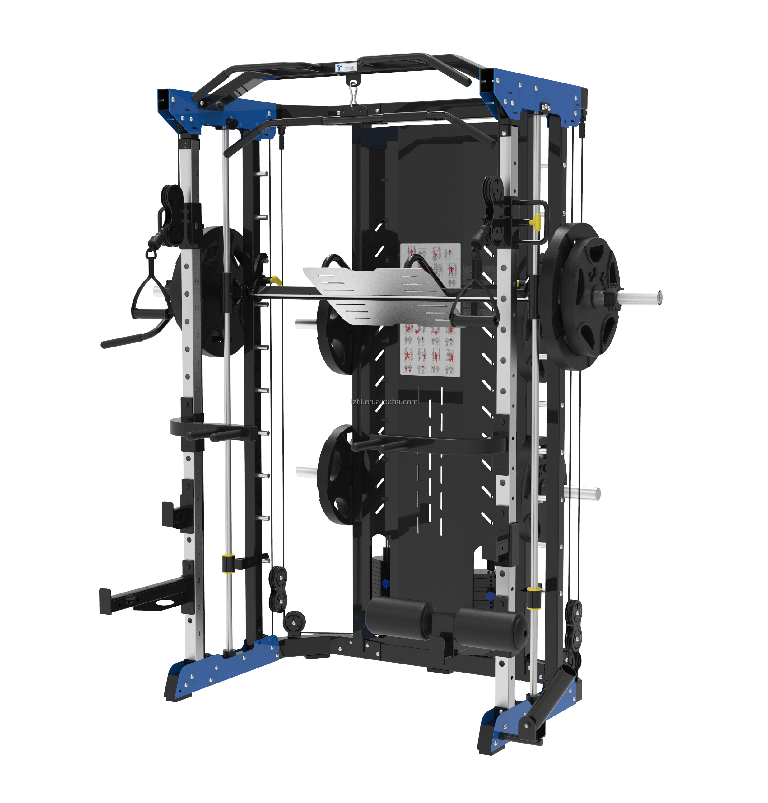 TZ-1006B Multifunctional Weight Lifting Smith Machine Gym Equipment Manufacturer With 12 Years Experience