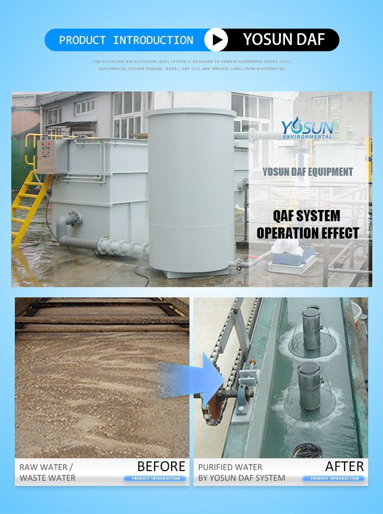 dissolved air flotation dissolved air bubbles suspendid matter removal for industrial wastewater treatment