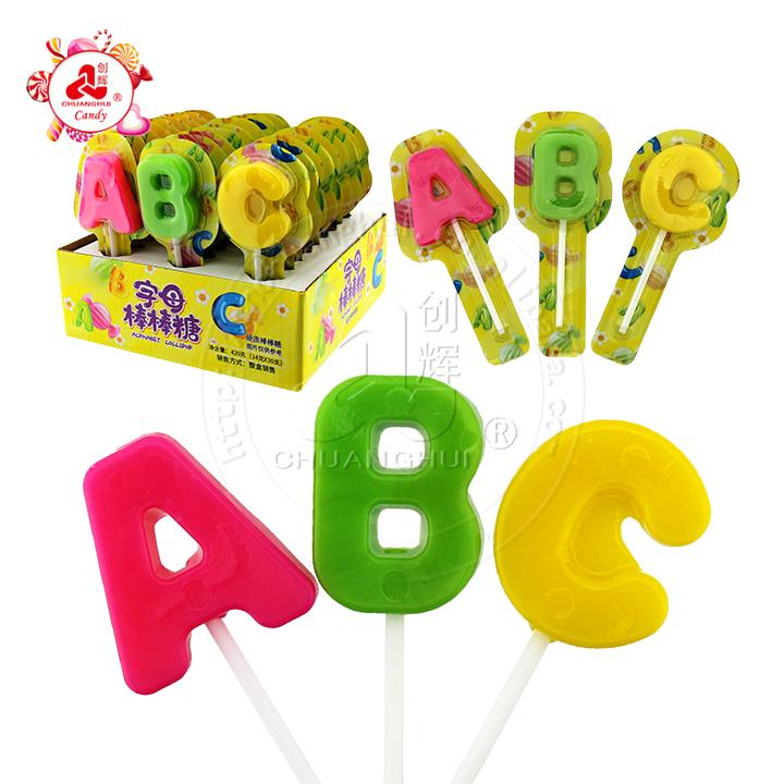 alphabet lollipop