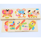Kids Educational Wooden Toys Cartoon Animal 3D Jigsaw Wooden Puzzle