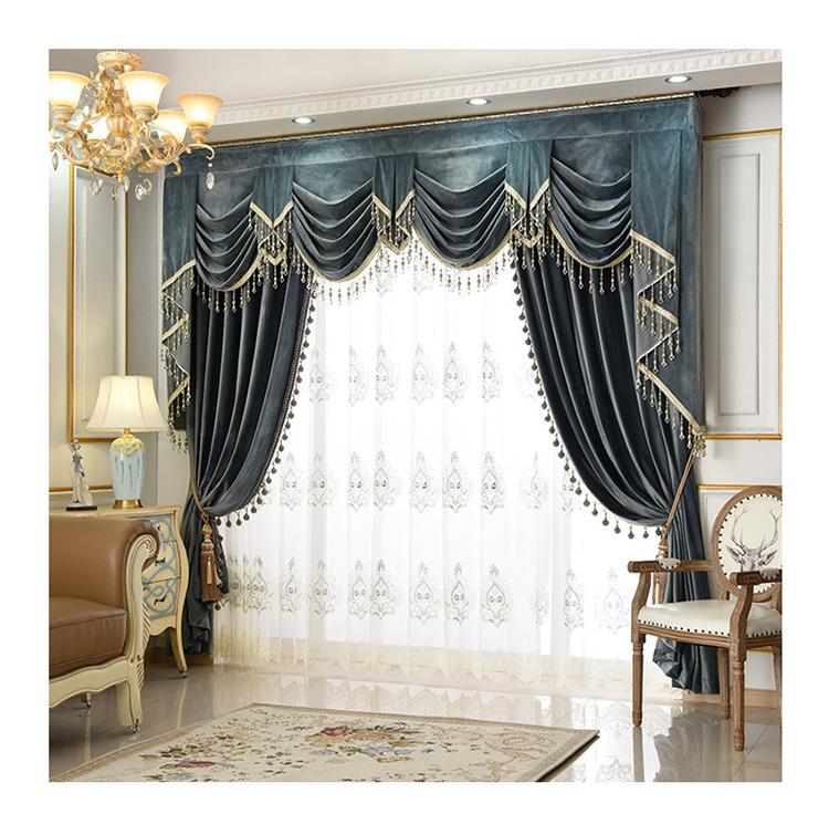 Готовые различные цвета простые шторы ткань гостиная элегантные бархатные плотные шторы с балдахином