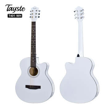 OEM 40 inch cheap beginner  wholesale guitars white  acoustic guitar