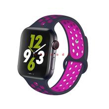 Ремешок для apple watch band 44 мм 40 мм iwatch band 42 мм 38 мм силиконовый спортивный ремешок для часов браслет correa apple watch series 5 4 3 2(Китай)