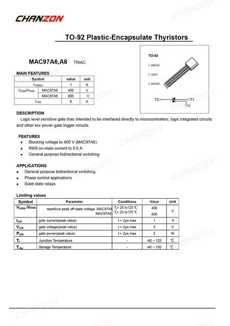 Details about  /50CS MAC97A8 TO-92 97A8 TO92 darlington new