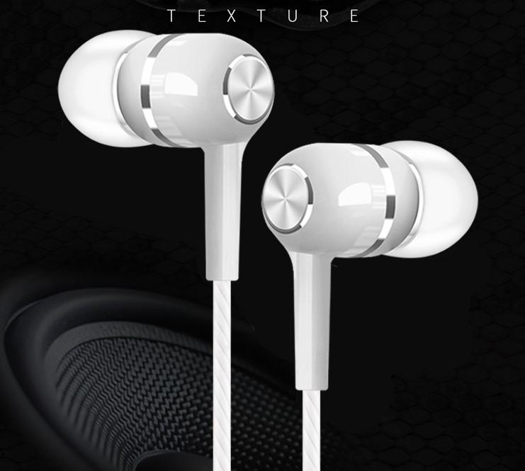 מכירה לוהטת Wired 3.5mm אוזניות עם מיקרופון עבור Iphone אנדרואיד