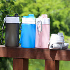 Custom Drink Water Bottles Sports Gym Silicone Collapsible Kids Milk Carton Insulated Water Bottle