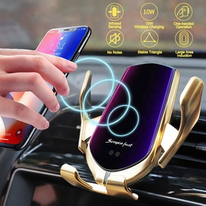 10W Wireless Charger Smart Sensor Automatic Clamping Fast Charging Car Charger