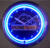 Black ABS frame led neon clock tube with battery or USB cable powered