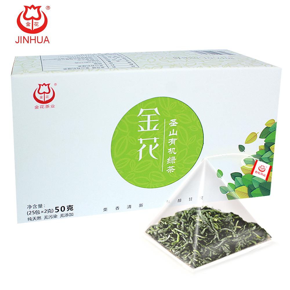 JINHUA Organic Green Tea Bagged 50g - 4uTea | 4uTea.com
