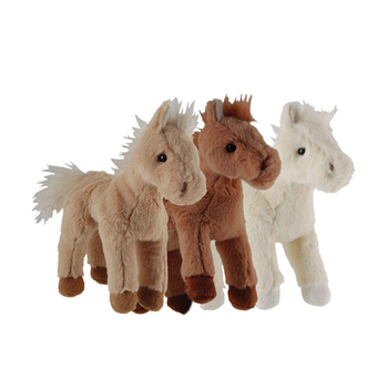30-60CM Simulation Horse Plush Toys Cute Stuffed Animal Real Like Doll Soft Toy Kids Birthday Gift Home Decoration