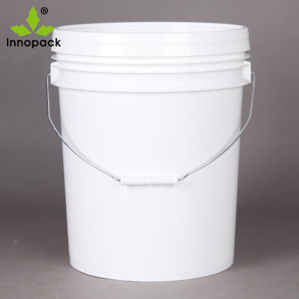 5 gallon plastic bucket with lid, plastic paint pails