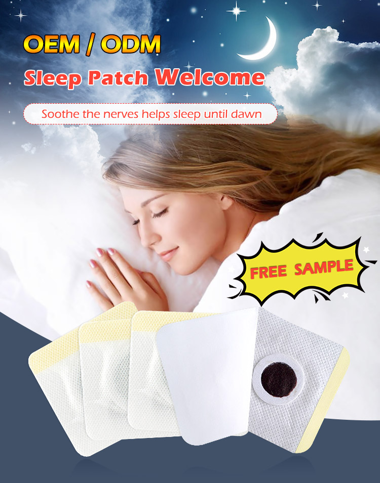 Relieve the insomnia caused by uneasiness adhesive sleep patch