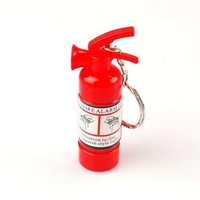 INFANTA JEWELRY Small Fire Extinguisher Keychain Pendant Lighter Mini Cigarette Keychain Lighter Bushcraft Hike Gas Disposable
