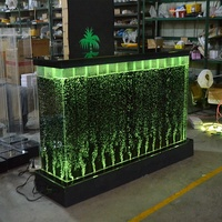 Modern hotel spa acrylic led lighting color changing aquarium reception counters design