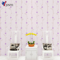 Purple Flowers Waterproof Self Adhesive Wallpaper Peel and Stick PVC Film Living Room Bedroom Wall Decor 53cmx10m