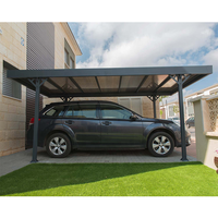 Covered Car Parking Sun Shelter Outdoor For Cars Space-saving And Easy-to-access Carport With Polycarbonate Roof