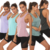 Wholesale summer workout racerback tank tops for women