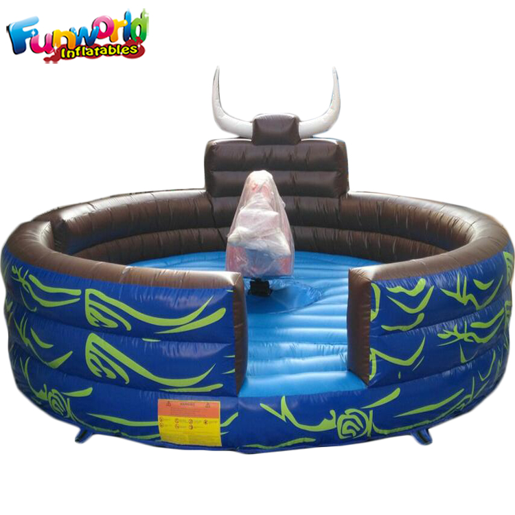 Outdoor crazy mini sport game amusement park inflatable gladiator price rodeo mechanical bull ride