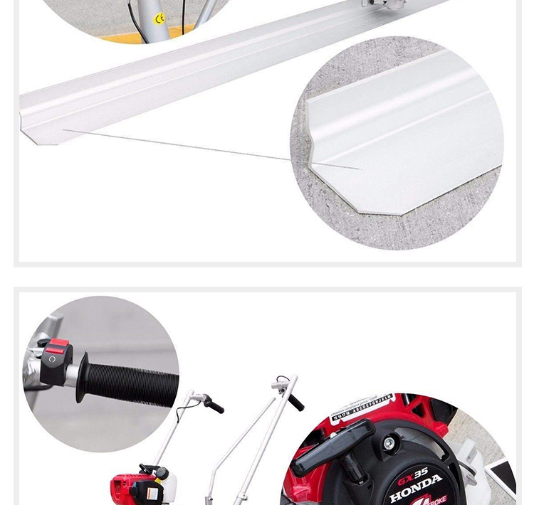 Air-cooled  Walk Behind Manual Floor Surface Finishing Screed Machine