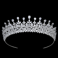 Tiaras and Crown Cute Leaves Shape Design Temperament Women Wedding Party CZ Hair Crown Accessories BC5796 Corona Princes