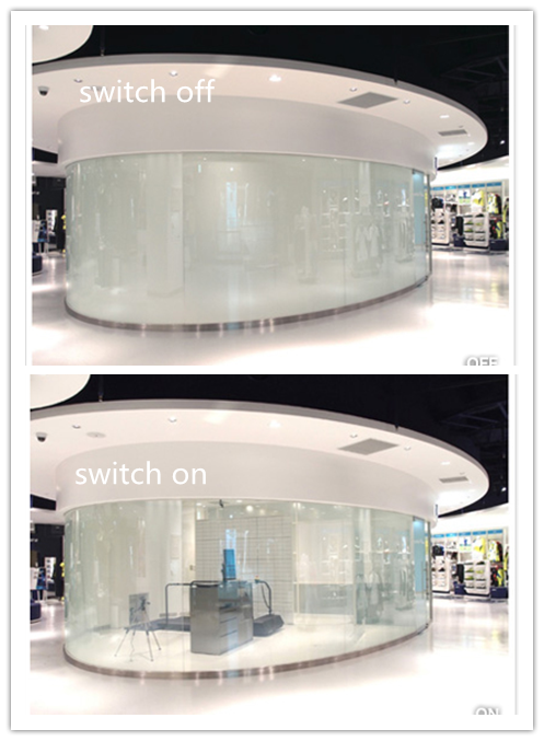 Privacy Electric PDLC tinting glass switchable smart tint film electric smart glass