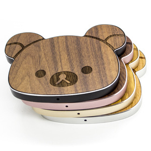 Custom Wooden Wireless Charging Stand Cartoon Wooden Charger Base
