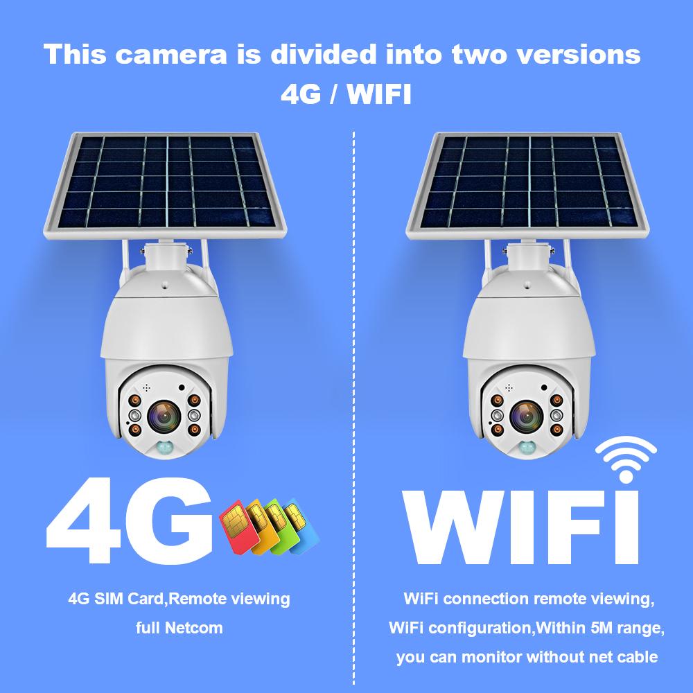 Loosafe 4G Sim Card Solar Ip Wifi Lte Camera Cctv Dome Cam Draadloze Camara 5x Zoom Pir Camera