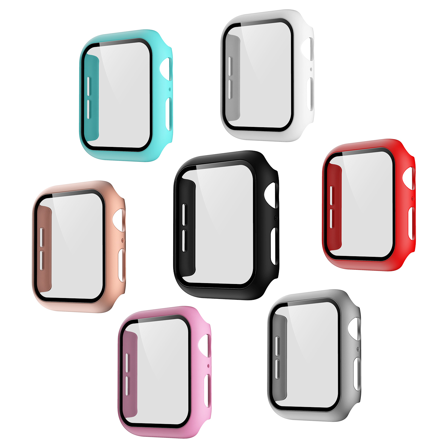 Watch Accessories protection tempered hard Cover 38mm 40mm 42mm 44mm for Apple Watch Bumper Case for iwatch case