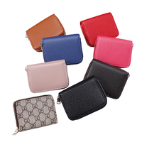 China factory slim genuine credit card holder front pocket rfid blocking leather id card holder