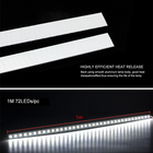 1M 72 LEDs DC 12V Aluminium High Brightness Hard Led Flex Strip Bar 5630 Led Rigids Strip Light