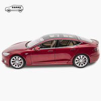 Tesla red 1 18 diecast classic model car with factory price