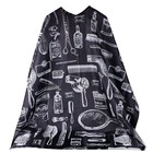 OEM salon hairdressing hair cutting gown hairdresser barber cape cloth black