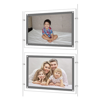 Super clear acrylic LED window display, frameless movie poster light box