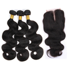 Wholesale brazilian hair product, 100% virgin cuticle aligned human hair,cheap 3 bundles and closure body wave in large stock