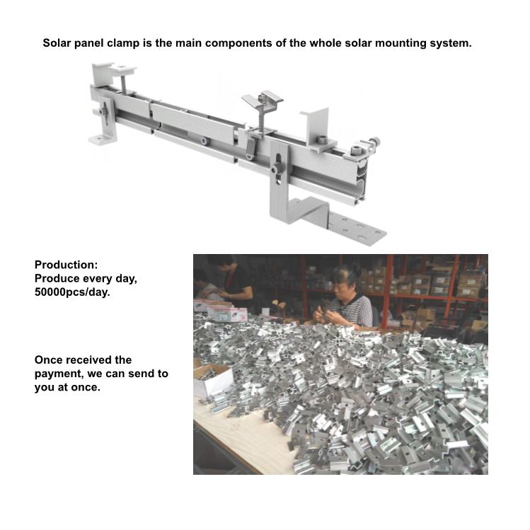 120 pcs/carton Solar panel mid clamp for solar panels, Aluminum solar clamp, Solar mounting clamp