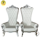 JC-K03 wholesale price new product Modern style high back gloden silver color wedding king throne chair