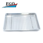 Quarter baking pan with cooling rack set
