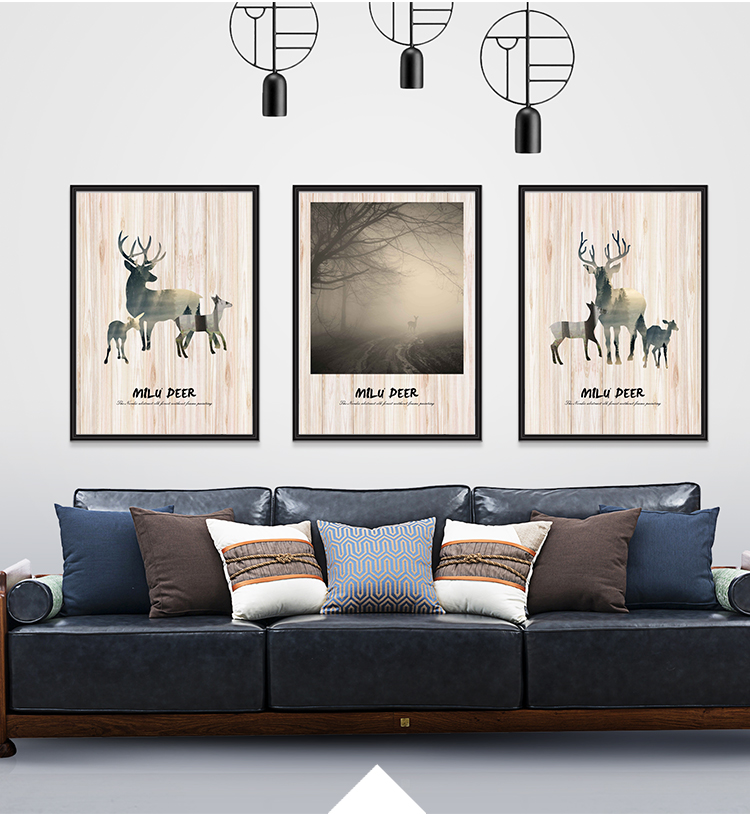 Custom Design Simple Retro Abstract Home Wall Art Building Canvas Prints