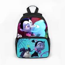 Movie Vampirina Children Backpacks Girls Boys School Bags Vampire Girl Book Bags Cute Actions Figure Toys Kids Christmas Gift(China)