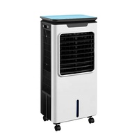 New Portable Remote control 3 wind modes evaporative ice water home air conditioner fan cooler with led light