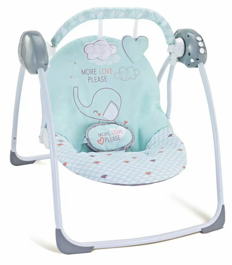 Children's outdoor indoor swing chair Folding baby rocking chair deluxe toy crib multi-function rocking chair