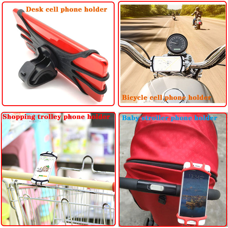 360 rotate motorcycle cell phone holder silicone bicycle cell phone  holder bicycle cell phone holder