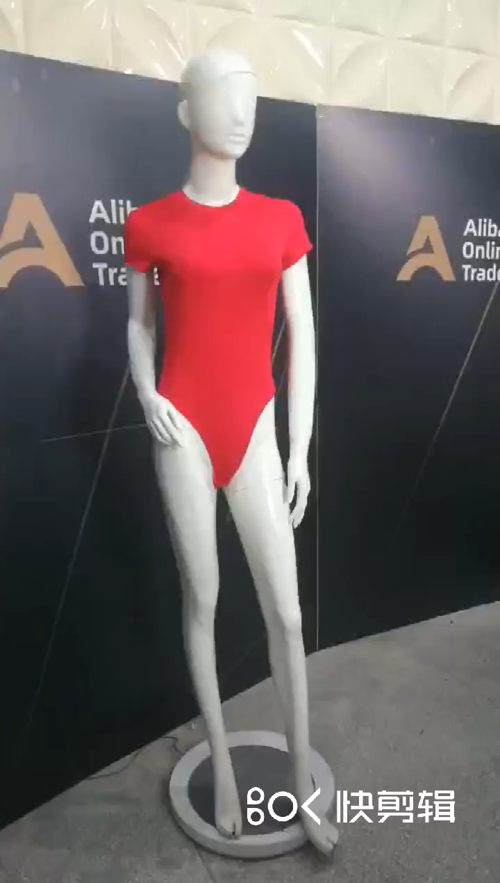 Seksi kadın kısa kollu bodysuit düğme ile v boyun katı düz renk örgü bodysuit kadınlar için
