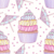 Rainbow Cute Cup Cake Pattern Ultra Soft Bamboo Baby Blanket 47 x 47 inches Baby Swaddle wrap for Girl