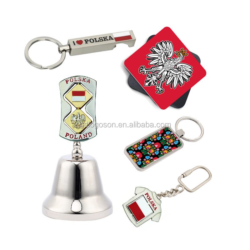 Poland Souvenir Dinner Bell White Eagle Shape Hand Bells