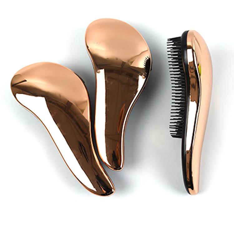 Magic Massage Gold Electroplating Tangle Free brush Detangle ABS Material Hair Brush